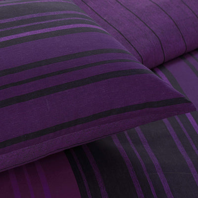 Textured Stripe Duvet Cover Set and Pillowcases - Ustad Home