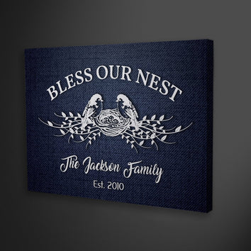 "Graceful ""GOD BLESS MY FAMILY"" Canvas"