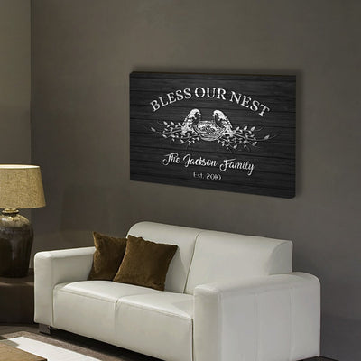 "Premium ""BLESS OUR NEST"" Canvas - Ustad Home"