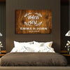 "Special ""BLESS OUR NEST"" Couple Canvas"