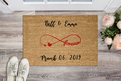 "Love & Forever""MR & MRS""Personalized Doormat - Ustad Home"