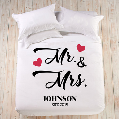 MR AND MRS DUVERT COVER WITH NAME & WEDDING YEAR