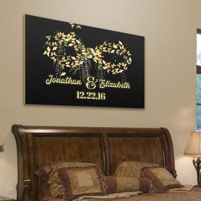 "Deluxe ""LOVE INFINITY"" Personalized Canvas"