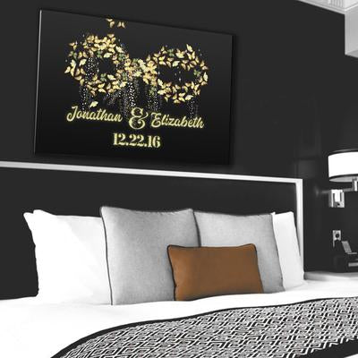 "Deluxe ""LOVE INFINITY"" Personalized Canvas - Ustad Home"
