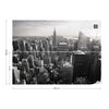Empire State View in Black and White Wallpaper - Ustad Home