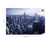 Empire State View in Blue Wallpaper - Ustad Home