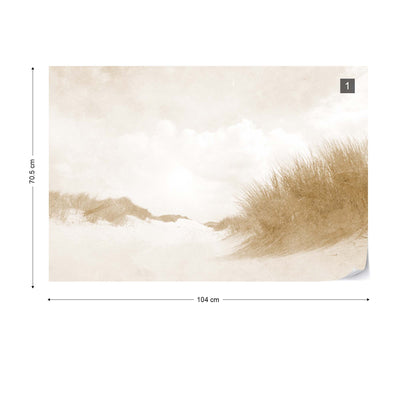 Sandy Days Faded Vintage in Sepia Wallpaper - Ustad Home