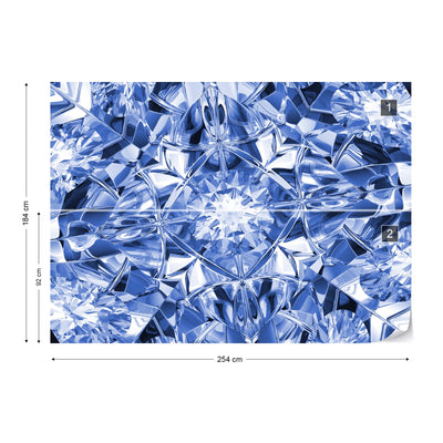 Facets of Luxury in Blue Wallpaper - Ustad Home