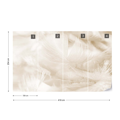 Feathers in Sepia Wallpaper - Ustad Home