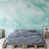 Feathers in Turquoise Wallpaper - Ustad Home