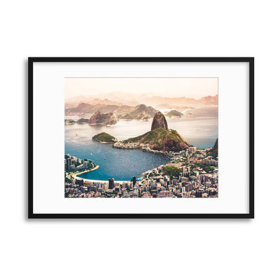Sugarloaf Mountain in the Distance, Rio de Janiero Framed Print - Ustad Home