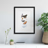 Delicate Shadows Collection No.3, Butterflies Framed Print - Ustad Home