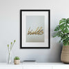 Hello Framed Print - Ustad Home