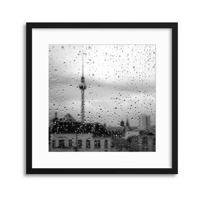 Berlin Drizzle Framed Print - Ustad Home