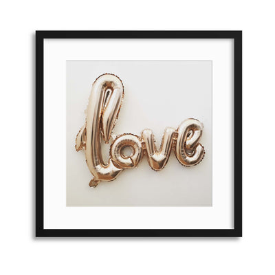Love, Inflated Framed Print - Ustad Home