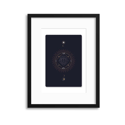 Astronomy Playing Cards Series II Framed Print - Ustad Home
