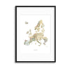 Map Countries: Europe Framed Print - Ustad Home
