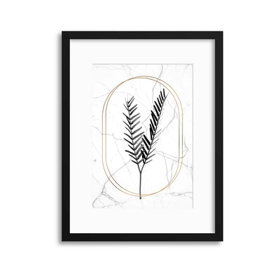 Marble Tropical 2 Framed Print - Ustad Home