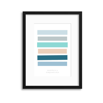 Palette No. 2 Turquoise Seas Framed Print - Ustad Home