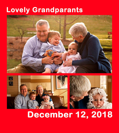 Premium Grandparents Blanket With Your Photo