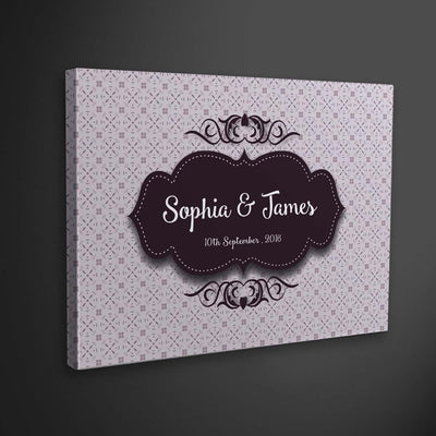 Premium Custom Canvas With Your Names & Date