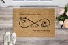 Infinity Love Personalized Doormat