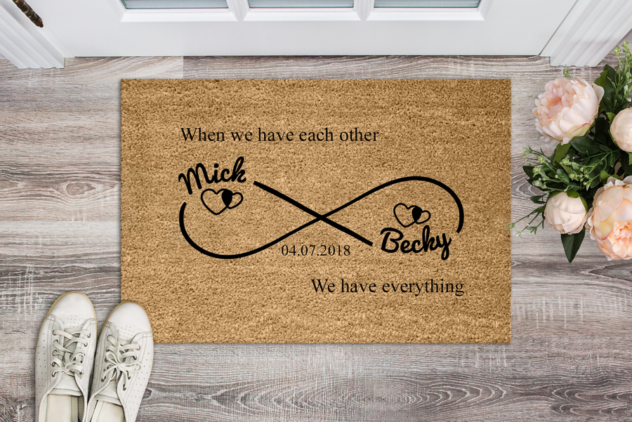 Infinity Love Personalized Doormat - Ustad Home