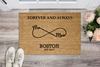 "Deluxe "" Forever & Always "" Personalized Doormat"