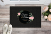 Premium Flower Personalized Doormat