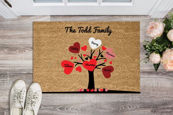 Special Family Tree Personalized Doormat
