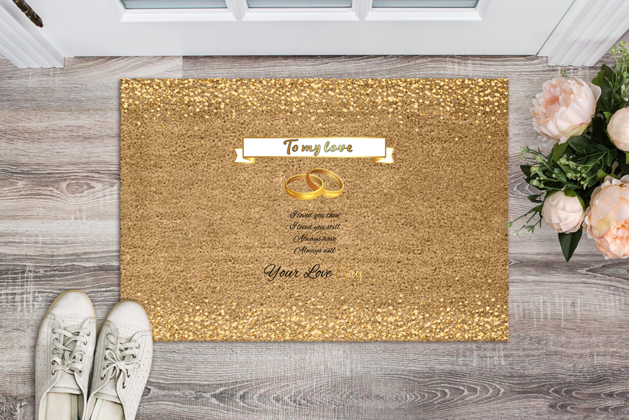 To My Love Personalized Doormat - Ustad Home