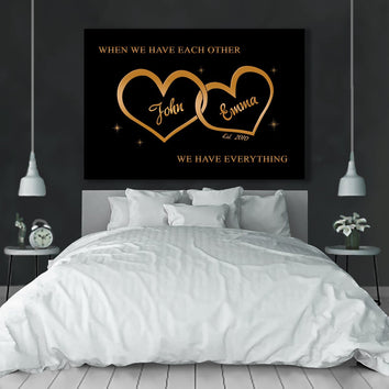 "Premium ""FOR THE CLOSEST ONE TO YOUR HEART"" Canvas"