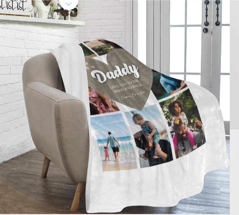 Daddy's Love Premium Blanket - Ustad Home