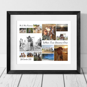 13 WEDDING PERSONALISED PHOTO COLLAGE