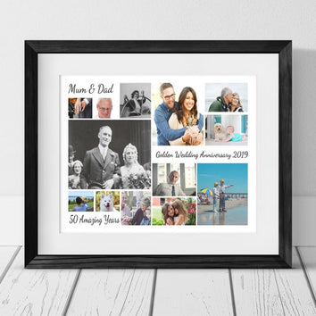 13 ANNIVERSARY PERSONALISED PHOTO COLLAGE