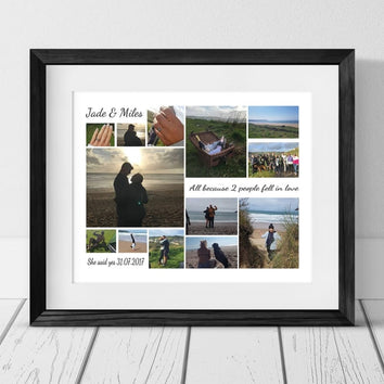 13 ENGAGEMENT PERSONALISED PHOTO COLLAGE