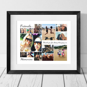 13 PERSONALISED PHOTO COLLAGE - BEST FRIEND