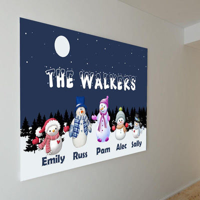 "Premium ""THE WALKERS FAMILY"" Personalized Canvas - Ustad Home"