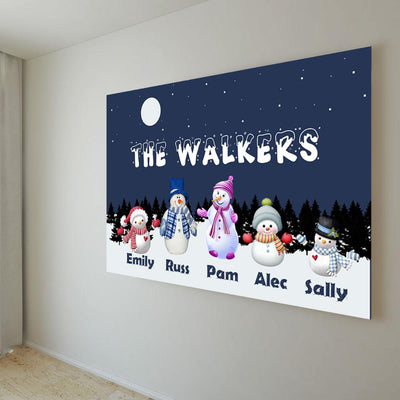 "Premium ""THE WALKERS FAMILY"" Personalized Canvas"
