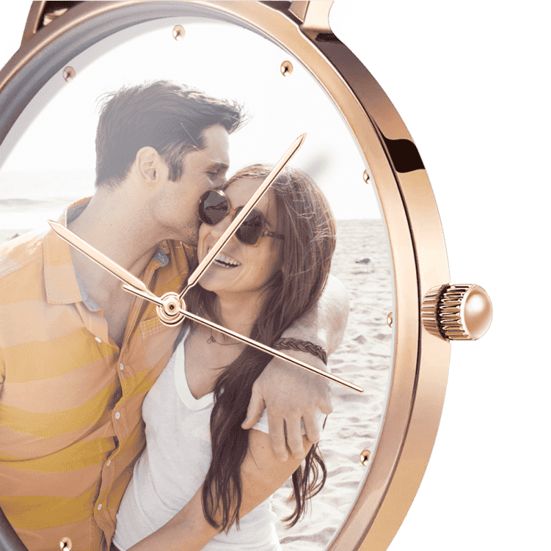 Unisex Premium Rose Gold Photo Watch - Ustad Home
