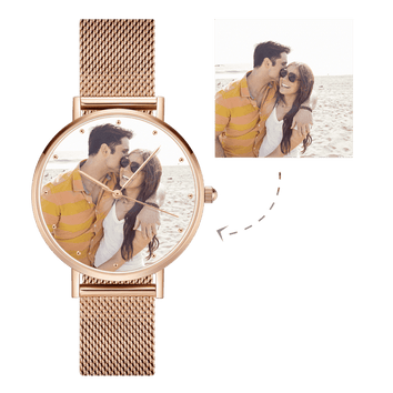 Unisex Premium Rose Gold Photo Watch