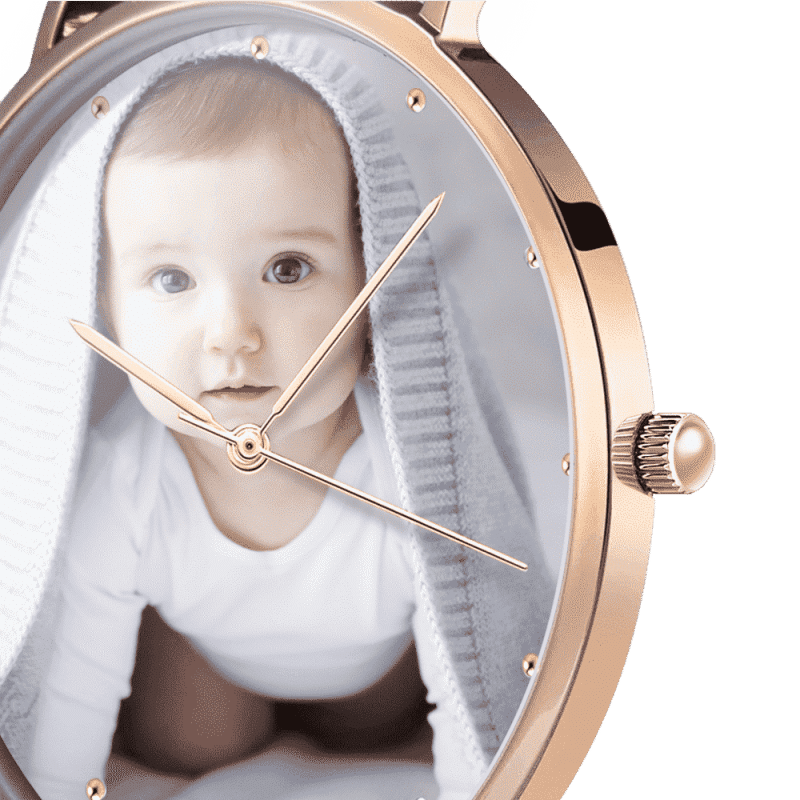 Women's Premium Rose Gold Photo Watch - Ustad Home