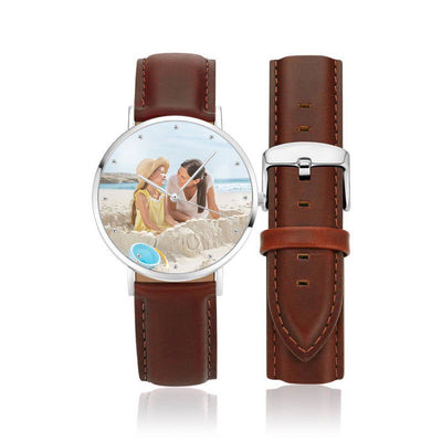 Women's Deluxe Leather Photo Watch