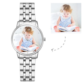 Unisex Elegant Alloy Photo Watch