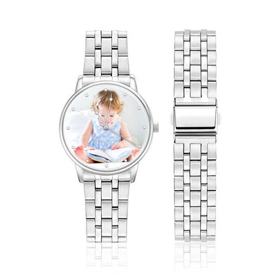 Unisex Elegant Alloy Photo Watch - Ustad Home