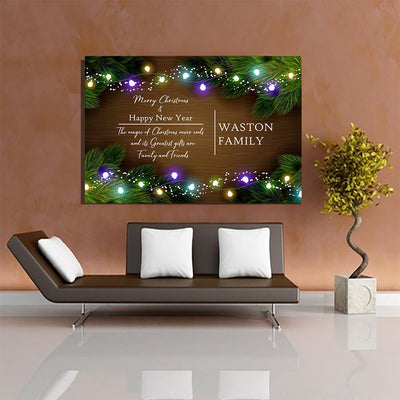 "Deluxe ""THE CHRISTMAS FAMILY"" Personalized Canvas - Ustad Home"