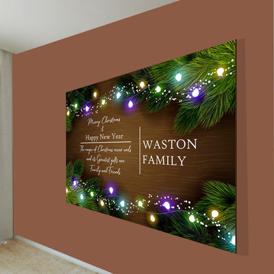"Deluxe ""THE CHRISTMAS FAMILY"" Personalized Canvas"
