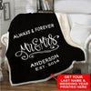 "Elegant ""Always & Forever"" Blanket - Ustad Home"