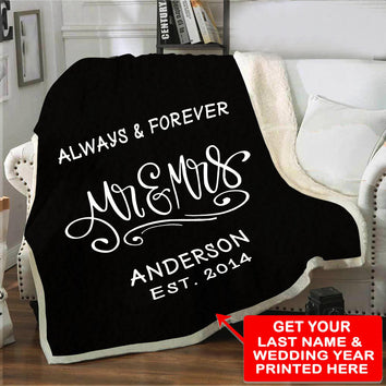 "Elegant ""Always & Forever"" Blanket"