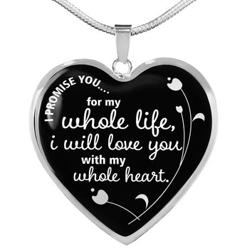 "Deluxe ""I Promise You"" Luxury Heart Necklace"